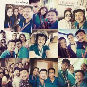 Bloggers haviing fun @ Hangout with honda event PC - @rahulprabhakar
