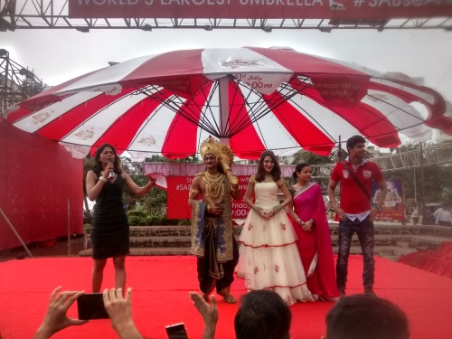 SAB TV World's largest umbrella Sabse Anokha Umbrella