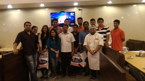 Food bloggers with Chef Kunal