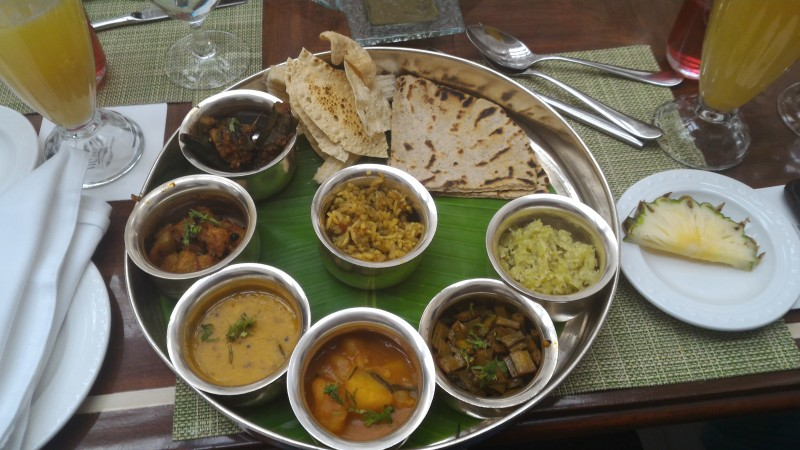Maharashtrian Thali - Thaat, Bharlivaangi, Patal bhaji, bajri