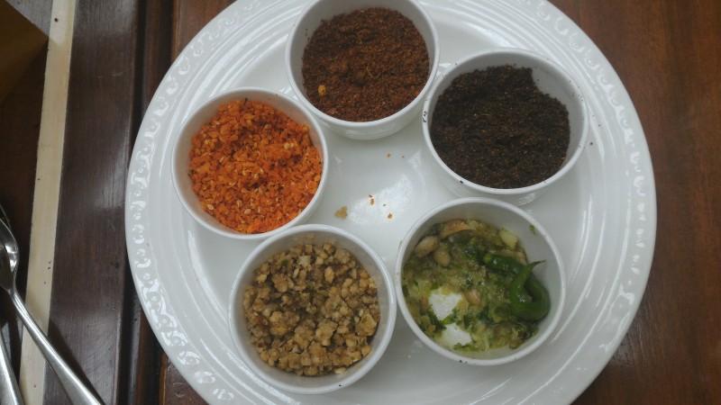 Maharashtrian chutney - known as Thecha