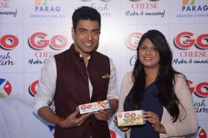 Mr. Ranveer Brar with Ms Akshali Shah, VP(Sales&Marketing),Parag Milk Foods